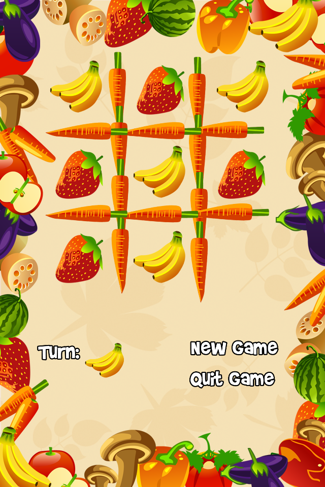 Screenshot Fruit Tac Toe Free – A Fruity Tic Tac Toe Adventure!